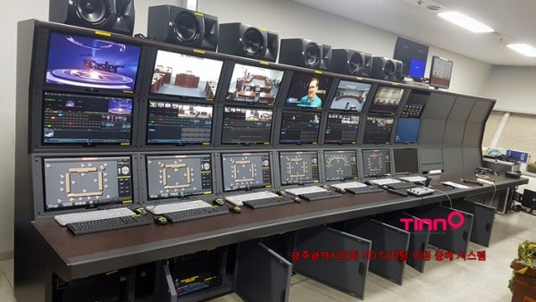 광주광역시의회  HD 회의 중계 주요 시스템 공급